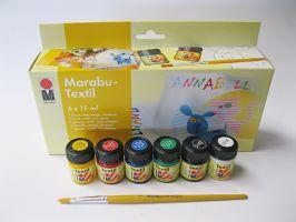 Sada barev Marabu na světlý textil