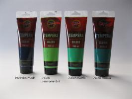 Tempera Koh-i-noor 250ml - zelené odstíny