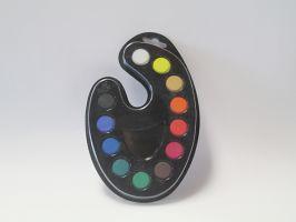 Paleta vodových barev