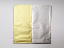 Hedvábný papír metalický